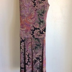 Marisol Skirts - Skirt Set Black and Purple Print Size XL